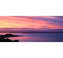Pink Sunset, Tahunanui, New Zealand  Photographic Print