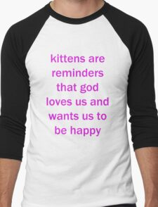 Kittens Men's Baseball ¾ T-Shirt