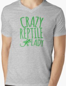 CRAZY REPTILE LADY Mens V-Neck T-Shirt