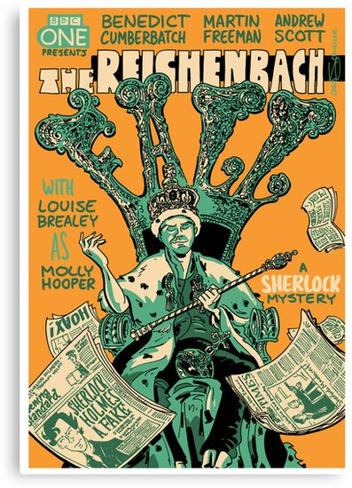 Vintage Poster - The Reichenbach Fall by Chris Schweizer