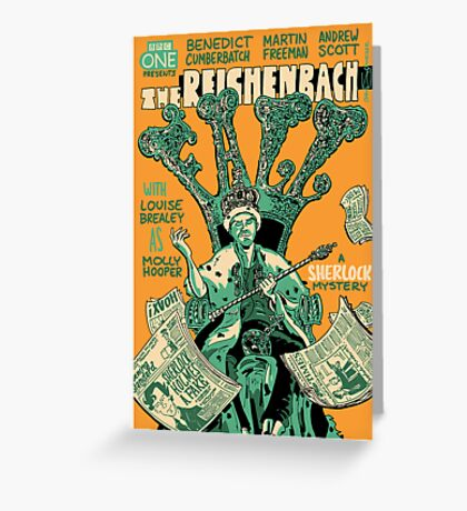 Vintage Poster - The Reichenbach Fall Greeting Card