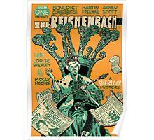 Vintage Poster - The Reichenbach Fall Poster