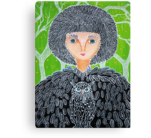 Mrs. Owl Canvas Print