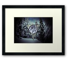 Winter triangle Framed Print