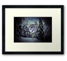 Winter triangle Framed Print