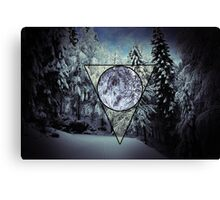 Winter triangle Canvas Print
