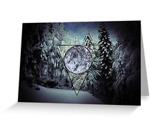 Winter triangle Greeting Card