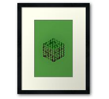 Minimalistic Minecraft Grass Block Framed Print