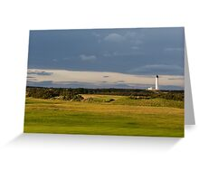 Golfers view of Covesea Lighthouse. Greeting Card