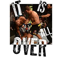 UFC - IT IS ALL OVER - Alistair Overeem vs Bigfoot Silva - Mike Goldberg Photographic Print