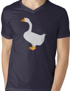 White goose Mens V-Neck T-Shirt