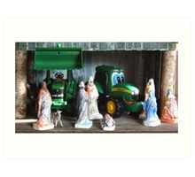 Kids Nativity Scene Art Print