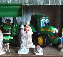 Kids Nativity Scene by Kathy Rogers-Hartley