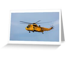 RAF Search and Rescue Helicopter Greeting Card