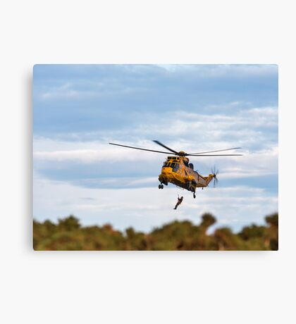RAF Search and Rescue Helicopter V2 Canvas Print