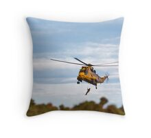 RAF Search and Rescue Helicopter V2 Throw Pillow