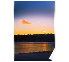 Sunset Reflection on the Lake Poster