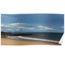 Hopeman's beach on a winters day. Poster