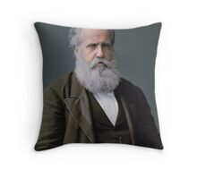 Emperor Pedro II of Brazil, 1876 Throw Pillow