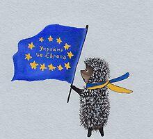 Art poster - Ukraine is part of Europe! by Marikohandemade