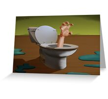 SURREALISM - Fear Of The Toilet Greeting Card