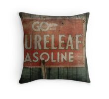 The Old Gas Sign Throw Pillow