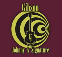 Gibson johnny A Signature (VIYE) decoration Clothing & Stickers by goodmusic