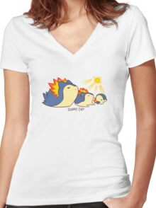 Sunny Day Attack..? Women's Fitted V-Neck T-Shirt