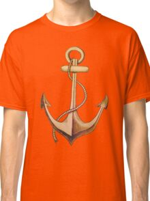 Sketched anchor and rope Classic T-Shirt