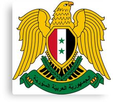 Coat of Arms of Syria  Canvas Print