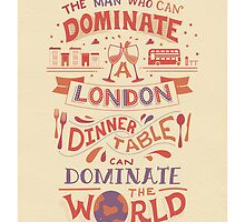 The London Dinner Table - Oscar Wilde quote by glpHQ