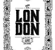 London decorative border illustrated print by glpHQ