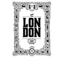 London decorative border illustrated print Photographic Print
