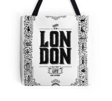 London decorative border illustrated print Tote Bag