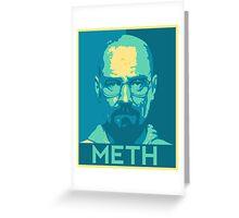 Breaking Bad - Walt Meth Blue Greeting Card