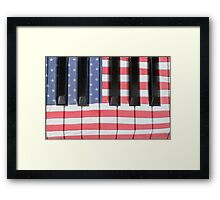 Patriotic Piano keyboard Octave Framed Print