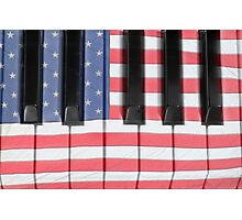 Patriotic Piano keyboard Octave Photographic Print