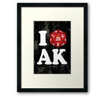 I D20 Alaska Framed Print