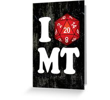 I D20 Montana Greeting Card