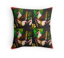 Brown poultry Throw Pillow