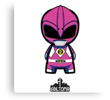 Pink Power Ranger Canvas Print