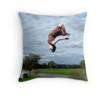 Flipping out Throw Pillow