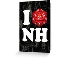 I D20 New Hampshire Greeting Card