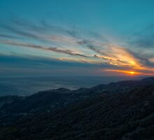 Malibu Sunset by yuriSakovich