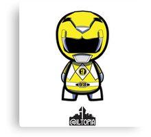 Yellow Power Ranger Canvas Print