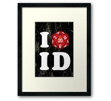 I D20 Idaho Framed Print