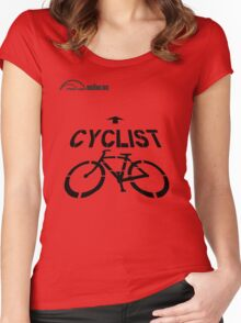 Cycling T Shirt - Cyclist Women's Fitted Scoop T-Shirt