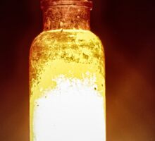 Glowing antique orange bottle Sticker