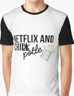 Netflix and Chipotle Graphic T-Shirt