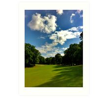 A Great Day for Golf Practice  Art Print